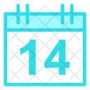 Calendar Valentine Love Icon