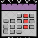 Calendar Yearbook Schedule Icon