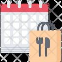 Calendar Bag Food Icon