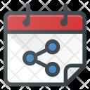 Calendar Interaction Share Icon