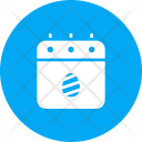 Calendar Date Easter Icon