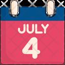 Calendar Usa Th Of July Icon