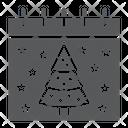 Christmas Calendar Date Icon