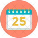 Calendar Date Christmas Icon