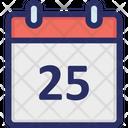 Calendar Christmas December Icon