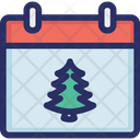 Calendar Christmas New Year Icon
