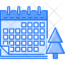 Calendar Tree Holiday Icon