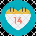 Calendar Date Love Icon
