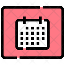 Calendar Grid Interface Icon