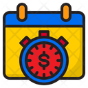 Calendar Money Stopwatch Icon