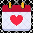 Calendar Romantic Day Icon