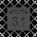 Calendar Date 31 Date Icon