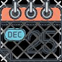 Calendar Dec Twinty Five Icon