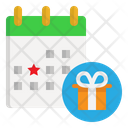 Calendar Birthday Anniversary Icon