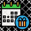 Calendar Birthday Anniversary Icon