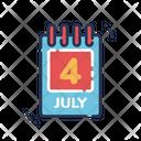Calendar Independence Day Reminder Icon
