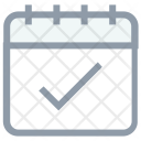 Calendar Checkmark Organizer Icon