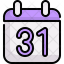 Calendar Time And Date October 31 Icon