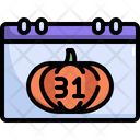 Calendar Date Halloween Icon