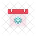 Calendar Christmas Winter Icon