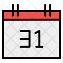 Calendar Time And Date Spooky Icon