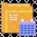 Calendar File Folder Icon