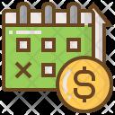 Calendar Money Shopping Icon
