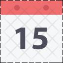 Calendar Fifteen Date Icon