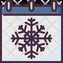 Winter Calendar Season Icon