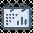 Calendar Chart Dots Icon