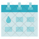 Blood Donation Medical Calendar Icon
