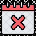 Calendar Cross Delete Icon