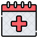 Calendar Plus Cross Icon