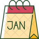 Calendar January Time Icon