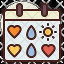 Calendar Love Calendar Love Icon