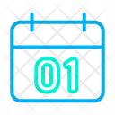 01 01 January Newyear Icon