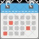 Calendar Agenda Chronology Icon