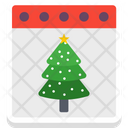 Christmas Tree Calendar Tree Calendar Icon