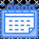 Calendar Interface User Icon