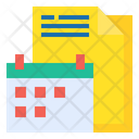 Calendar Plan Management Icon