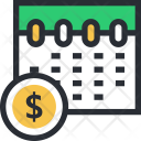 Calendar Schedule Timing Icon