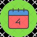 Calendar July Th Icon