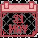 Calendar No Tobacco Day May Icon