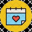 Calendar Heart Love Icon