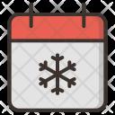 Calendar December Christmas Icon