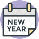 Calendar New Year Icon