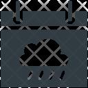 Calendar Rian Sign Icon