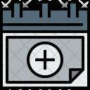 Calendar Add Agenda Icon