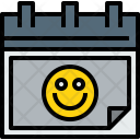 Calendar Happy Agenda Icon