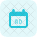 Calendar Advertising Ads Schedule Calendar Icon